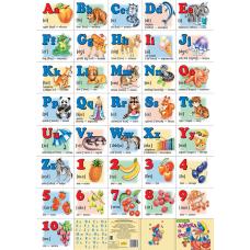 Азбука английская с цифрами (большой формат)