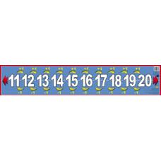 Числовой ряд от 11 до 20