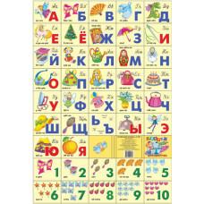 Азбука русская + счет. Для девочек (большой формат)
