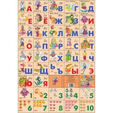 Азбука русская + счет. Сказочная (большой формат)