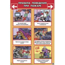 Правила поведения при пожаре (большой формат)